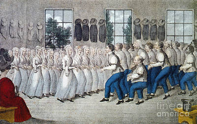 Photograph - Shakers Meeting, C1840 by Granger