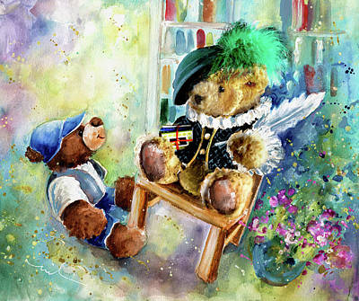 Painting - Shakesbear And Truffle Mcfurry by Miki De Goodaboom