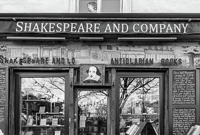 Photograph - Shakespeare And Company Bookshop by Georgia Fowler