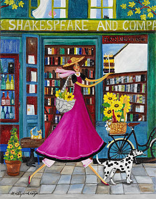 Glads Painting - Shakespeare And Company by Madeleine Hillgrund