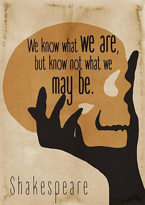 Shakespeare Hamlet Quote - By Diana Van Art Print