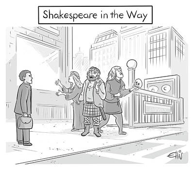 Drawing - Shakespeare In The Way by Ellis Rosen