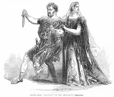 Shakespeare: Macbeth, 1845 Art Print
