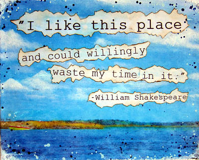 Coastal Quote Wall Art - Painting - Shakespeare Quote by Michelle Eshleman