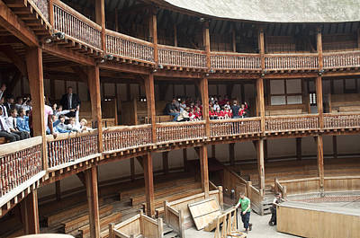 Shakespeare's Globe Theater C378 Art Print by Charles  Ridgway