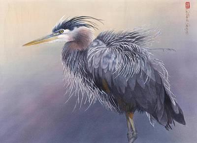 Shaking Heron Original by Cathleen Savage