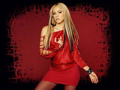 Shakira Digital Art - Shakira 34 by Emma Brown