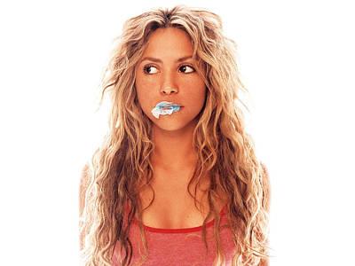 Shakira Digital Art - Shakira by Alice Kent