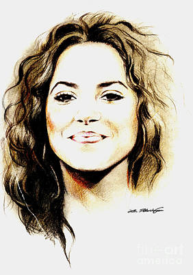 Shakira Drawing - Shakira by Lin Petershagen
