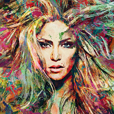 Shakira Painting - Shakira by Sampad Art