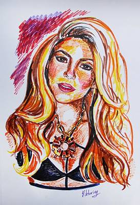 Shakira Wall Art - Painting - Shakira by Viktoryia Lavtsevich