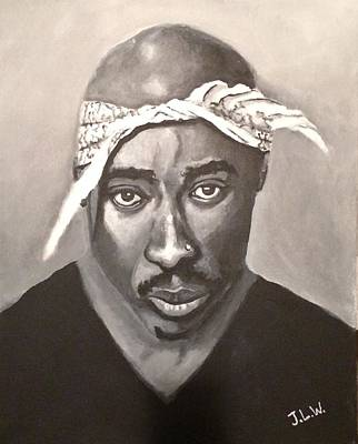 Painting - Shakur by Justin Lee Williams