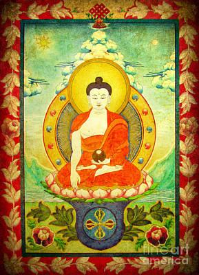 Digital Art - Shakyamuni Buddha Thangka by Alexa Szlavics
