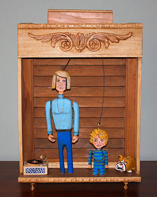 Folk Art Woodcarving Mixed Media - Shall We Dance? by James Neill