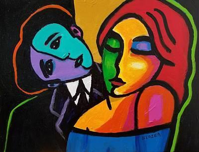 Wall Art - Painting - Shall We Dance? by Stuart Glazer