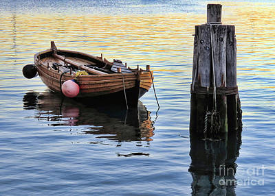 Photograph - Shallop With Boat Fenders by Janice Drew