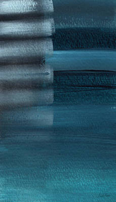 Stripes Mixed Media - Shallow- Abstract Art By Linda Woods by Linda Woods