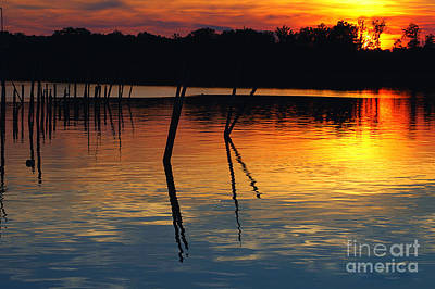 Photograph - Shallow Water Sunset by Clayton Bruster