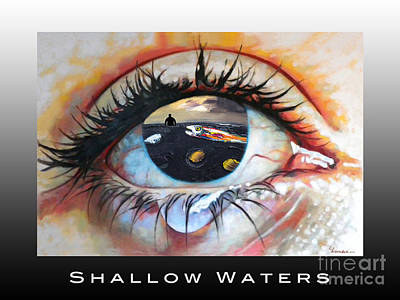 Digital Art - Shallow Waters  by Linda Weinstock