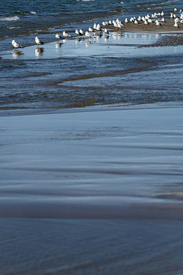Photograph - Shallow Waves On Sandbar At Outlet Beach Of Sandbanks Provincial by Reimar Gaertner