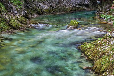 Art Print featuring the photograph Shallows In The Gorge - Slovenia by Stuart Litoff