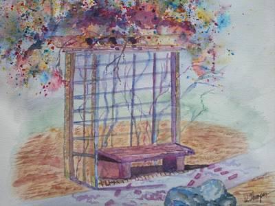 Shalom Rose Arbor Art Print by Warren Thompson