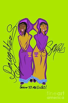 Drawing - Shalom Sistas by Robert Watson