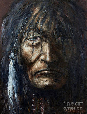 Art Print featuring the painting Shaman by Arturas Slapsys