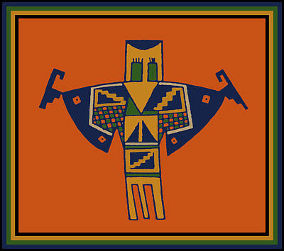 Digital Art - Shaman Bird Spirit by Vagabond Folk Art - Virginia Vivier