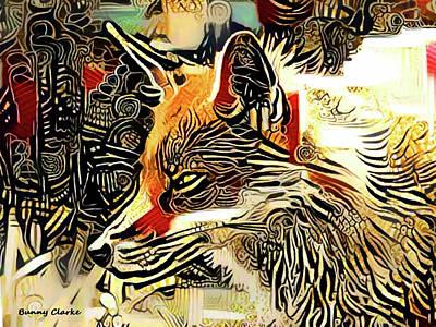 Fox Digital Art - Shaman by Bunny Clarke