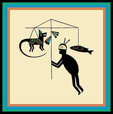 Digital Art - Shaman Dream Hunting Ritual by Vagabond Folk Art - Virginia Vivier