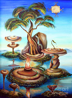 Etnic Art Painting - Shaman Fire by Yana Sadykova