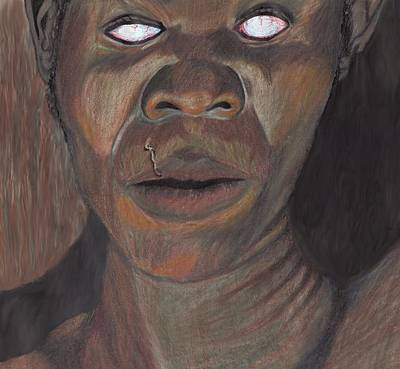 Shaman In A Trance Art Print by Jean Haynes