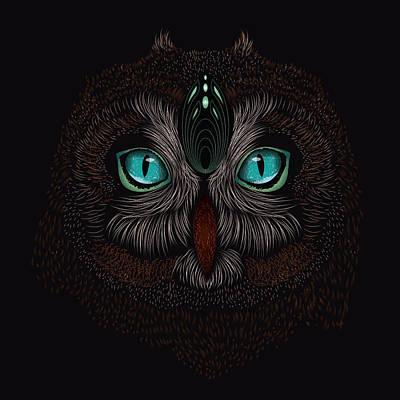 Shaman Spirit Owl Art Print