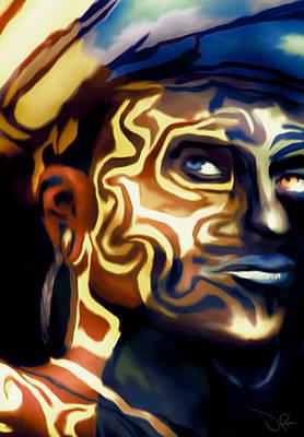Blue Healer Mixed Media - Shaman by Studio de Boer