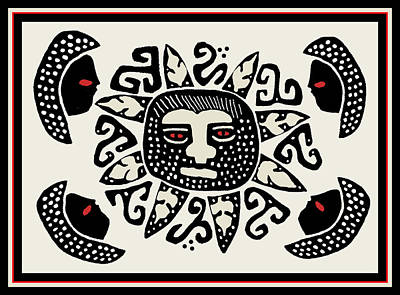 Digital Art - Shaman Sun Spirits by Vagabond Folk Art - Virginia Vivier