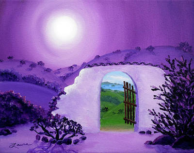 Shaman's Gate To Summer Print by Laura Iverson