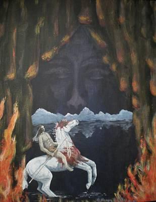 Pinto Painting - Shaman's Spirit Pilgrimage Vi by Karen Giles