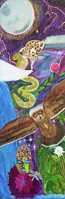Owl Maiden Painting - Shamans Totem by Liana Shanti