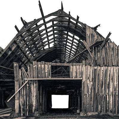 Photograph - Shambles - Vintage Barn Photography by Gregory Ballos