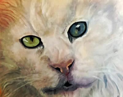 Kitty Painting - Shamoni   II Cat Painting II by Fallon Franzen