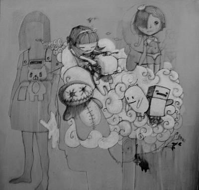 Teddy Bears Mixed Media - Shampoo by Konrad Geel