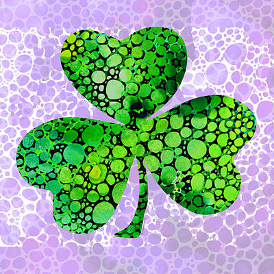 Shamrock Art By Sharon Cummings Art Print by Sharon Cummings