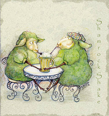 Shamrock Shake Art Print by Peggy Wilson