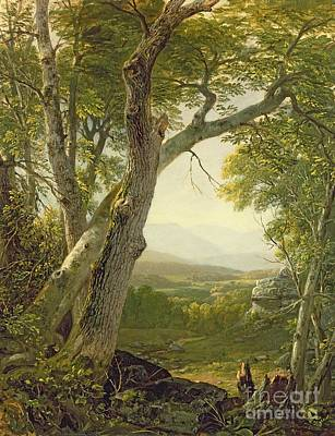 Stump Painting - Shandaken Ridge - Kingston by Asher Brown Durand