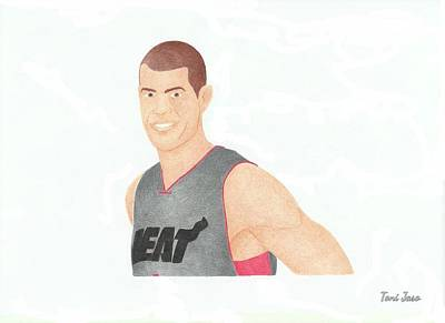 Drawing - Shane Battier by Toni Jaso