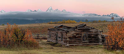 Photograph - Shane Cabin by Leland D Howard
