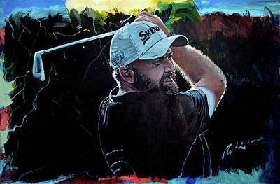 Painting - Shane Lowry Portrait by Mark Robinson