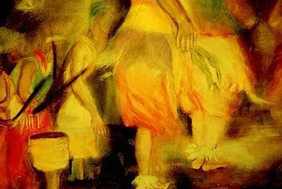 Tsonga Painting - Shangaan Shufflers by Arlene Rabinowitz