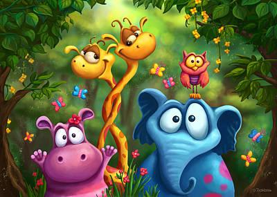 Hippo Wall Art - Digital Art - Shangagel Boogie by Tooshtoosh